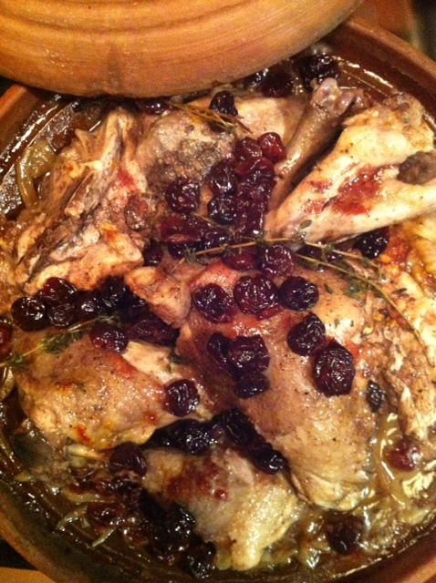 tagine of chicken and cherries
