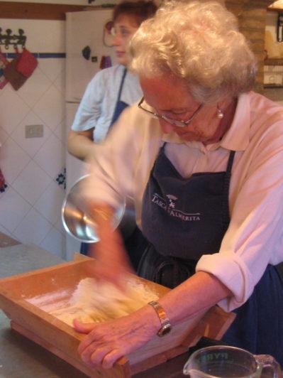 Hands in dough