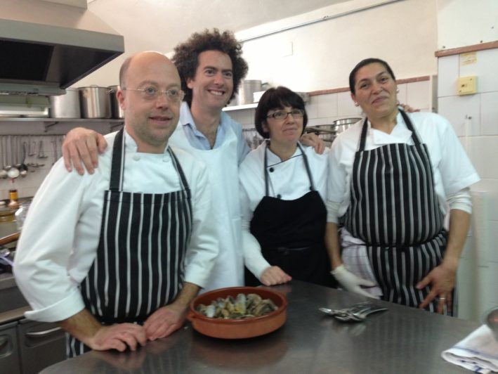 Seville hacienda kitchen staff
