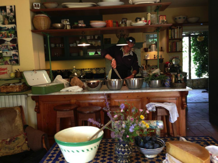 piero in a tuscan kitchen