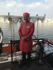 India Lake Palace guard