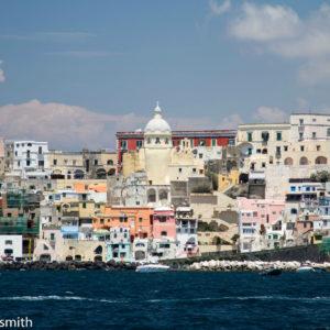 Procida From Boat Amalfi - Amalfi Coast, Italy - Peggy Markel's Culinary Adventures