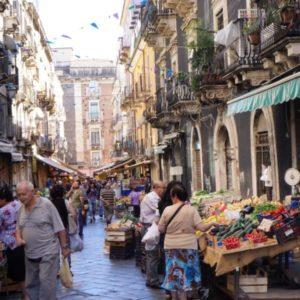 Street Market - Sicily + the Aeolians: The Island of Salina - Peggy Markel's Culinary Adventures