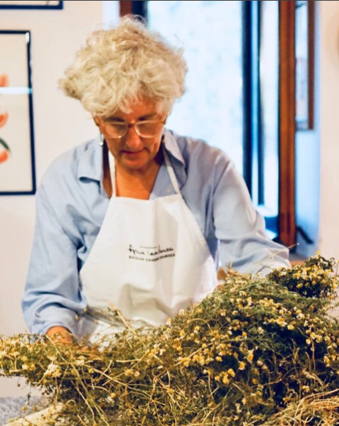 Fabrizia Lanza during Peggy Markel's Culinary Adventure in Sicily